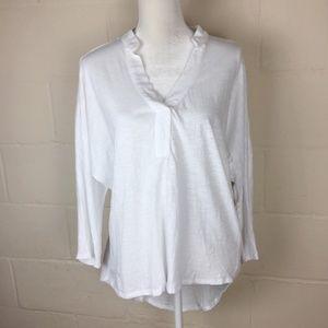Sundance boho cotton v neck loose fit blouse M